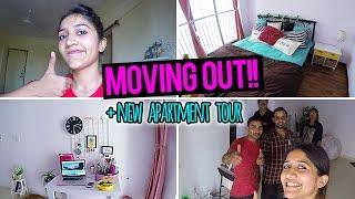 Moving Out AGAIN!!  + NEW APARTMENT TOUR | Vlog thumbnail