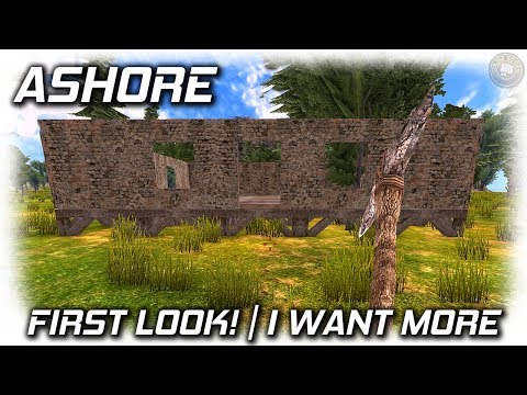 Ashore Survival Game | First Look Crafting and Building | EP1 | Ashore Gameplay