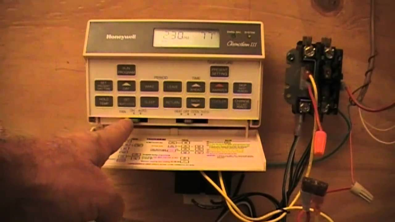 Hvac Old Honeywell T8601d Youtube Rth221b Basic Programmable Thermostat Wiring Diagram Car