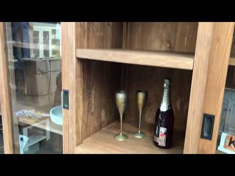 Teak houten buffetkast van 250cm breed | Kast2Go