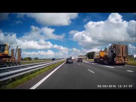 Dashcam ⁞ Belgium & Holland ⁞ Charleroi → Velserbroek • Timelapse •