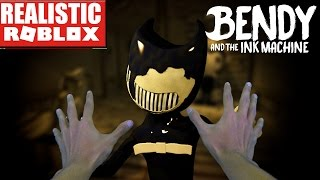 REALISTIC ROBLOX - BENDY AND THE INK MACHINE IN ROBLOX - FULL GAME!! ESCAPE INK BENDY IN ROBLOX