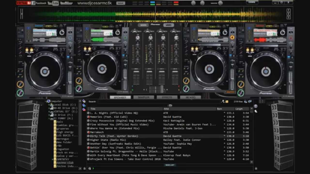 free   gratis  download skin for virtual dj 7 pro cdj 2000 4 decks