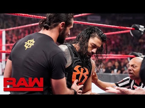 Seth Rollins helps Roman Reigns to the trainer\'s room: Raw, March 11, 2019