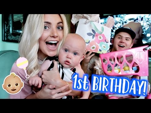 BABY'S FIRST BIRTHDAY PARTY! Mara Turns 1!