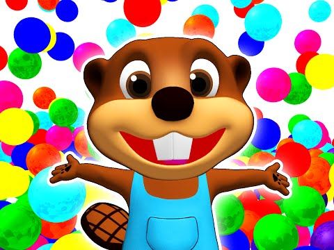 SUPER CIRCUS 3D Color Cars Jump | Learn Colours, Toy Surprise By Busy Beavers