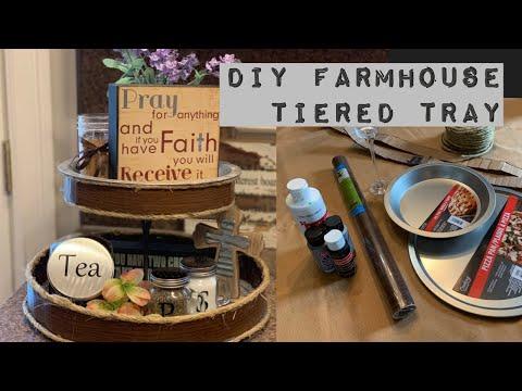 DIY Farmhouse Tiered Tray/