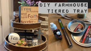DIY Farmhouse Tiered Tray/