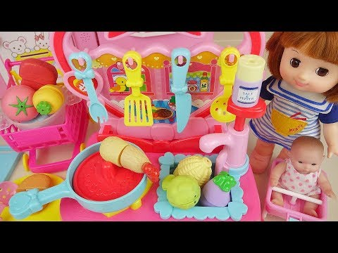 Thumbnail: Kitchen and food cooking toys and baby doll play