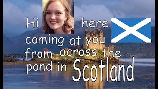 Rachel in Scotland EGP camp promo Typography
