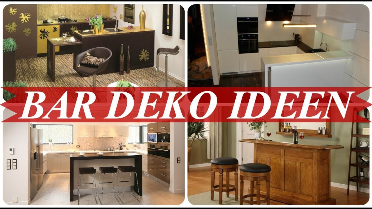 Bar dekoration ideen - YouTube
