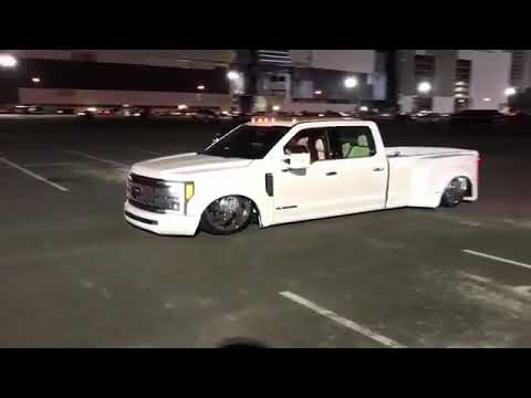 2017 Bagged F350 Dually On Big Billets. - YouTube