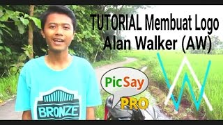 TUTORIAL Membuat Logo Alan Walker (AW)di PicsayPro