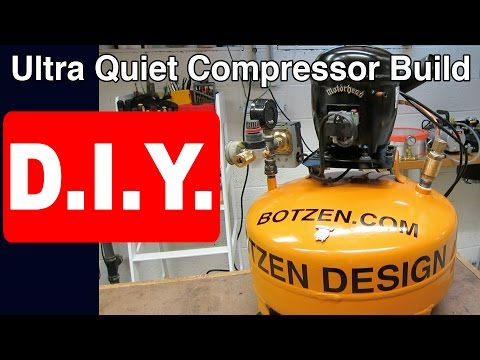 How to Build Ultra Quiet Refrigerator Air Compressor DIY: Silent Homemade Shop set up step by step