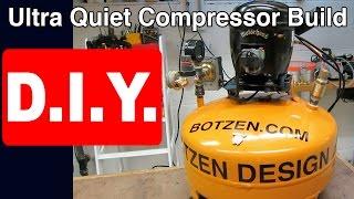 How to Build Ultra Quiet Refrigerator Air Compressor DIY: Silent Homemade Shop set up step by step