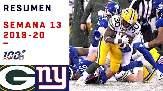 Los Packers no tuvieron piedad de los Giants en medio de la nieve | Highlights Packers vs Giants