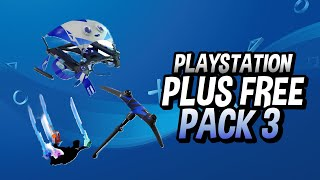 HOW TO GET FORTNITE FREE PS PLUS PACK 3! PlayStation Celebration Pack 3!