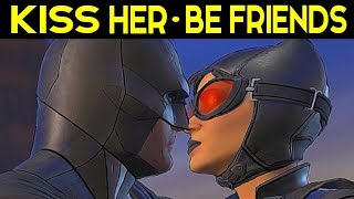 BATMAN Telltale Season 2 Episode 3 CHOICES KISS HER - I LIKE MORE / I LIKE BEING FRIENDS