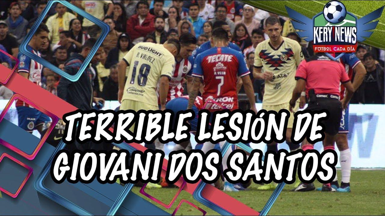 La grave lesin de Giovani dos Santos por la patada de Antonio ...