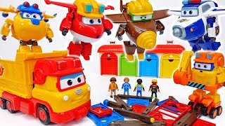 Let's Build A Playground To Children~! Super Wings Build It Buddies #ToyMartTV