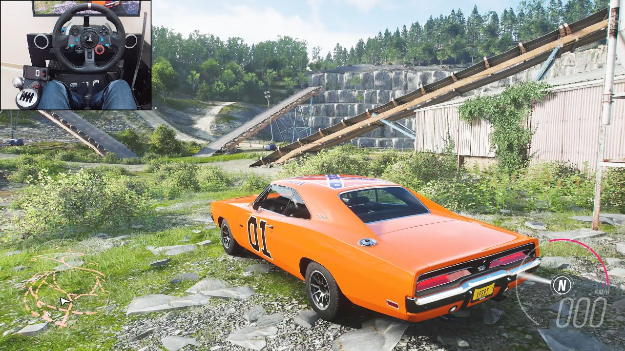 Dukes of Hazzard 1969 Dodge Charger R/T  - Forza Horizon 4 | Logitech g29 gameplay
