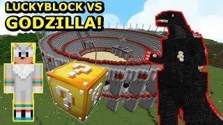 TRITSUS LUCKY BLOCK VS GODZILLA W MINECRAFT! Minecraft Arena