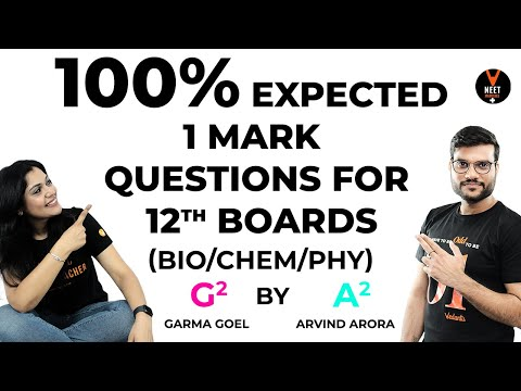 100% Expected 1 Mark Questions P4 | 12th Board 2020 Preparation | Arvind Sir & Garima Ma'am