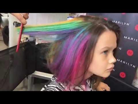 Окрашивание волос, GOLDWELL Elumen, радужное окрашивание