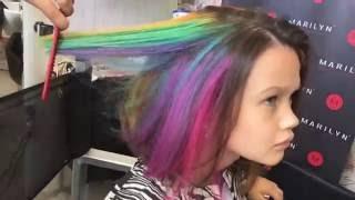 Окрашивание волос, GOLDWELL Elumen, радужное окрашивание(Во избежание недоразумений: я молодая мама, работающая в VIP студии, я безумно люблю свою дочь и не стала бы..., 2016-08-16T05:47:25.000Z)