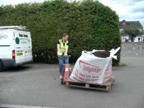 a253751c6e Bulk Bag delivery by pallet truck.MPG - YouTube