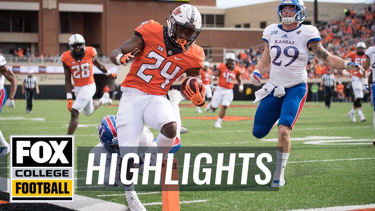 Kansas vs Oklahoma State | Highlights | FOX COLLEGE FOOTBALL - YouTube