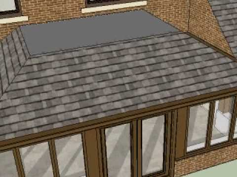 Flat Top Conservatory With Slate Roof Youtube