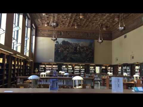 Tour inside the library of Berkeley University