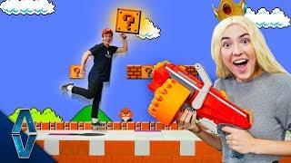 NERF Super Mario Death Run Challenge!