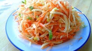 Простой, но Очень Вкусный Салат из Моркови и Сельдерея / Salad of carrots and celery
