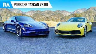 Porsche Taycan ou Porsche 911? Conduzimos os DOIS!