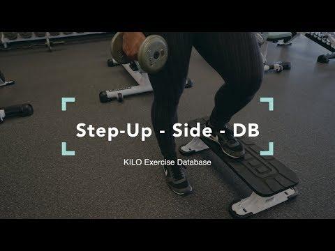 Step-Up - Side - DB   KILO Exercise Database
