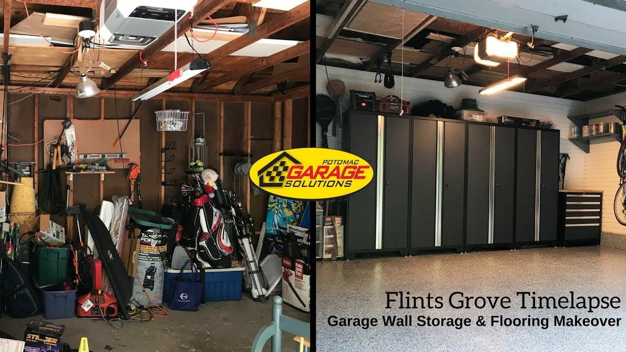 garage renovation timelapse potomac garage solutions youtube. Black Bedroom Furniture Sets. Home Design Ideas