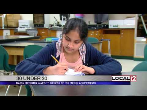 Local freshman named to Forbes list for energy achievements
