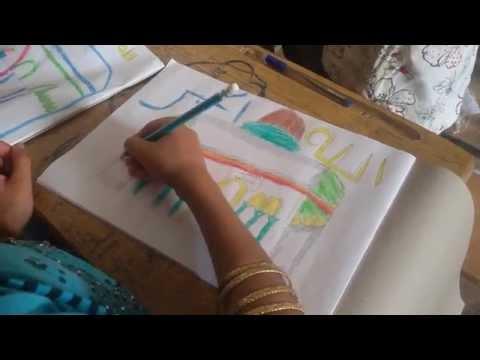 رسم وتلوين للمسجد الأقصى من طلاب #مدرسة #الأقصى