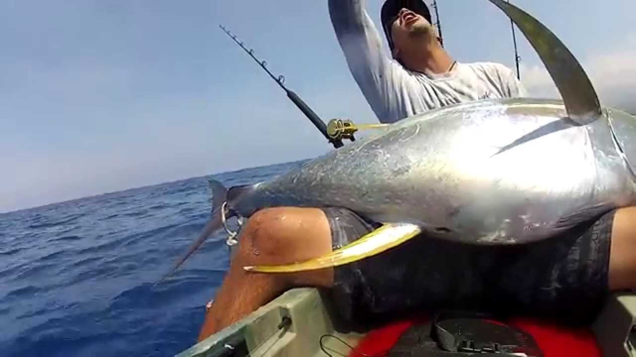 Extreme kayak fishing hawaii 101 ahi youtube for Kayak fishing hawaii