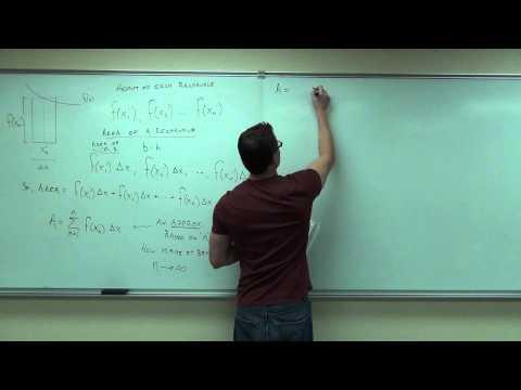 Calculus 1 Lecture 4.3:  Area Under a Curve, Limit Approach, Riemann Sums