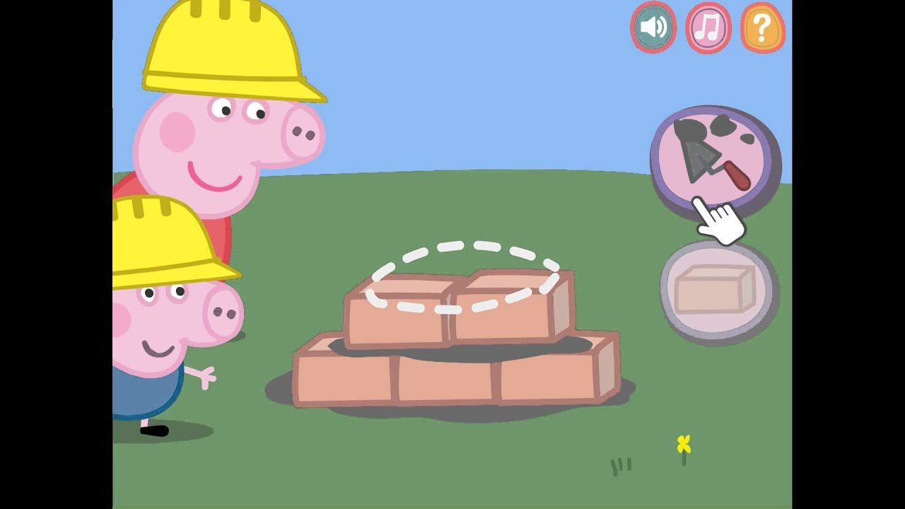 new peppa pig building house for kids movie youtube