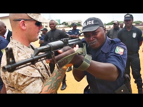 US Marines Give Tips To Benin Police In Africa
