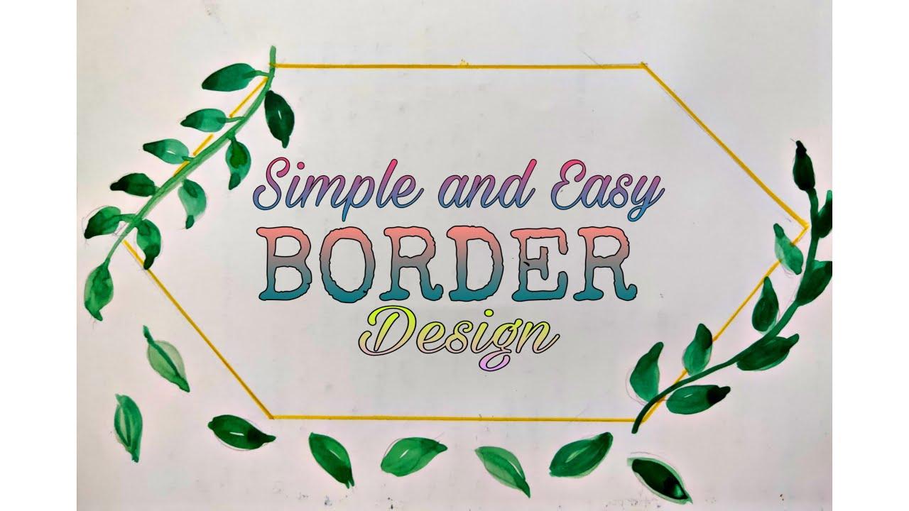 Border Design // Easy & Simple Border Design // Borders & Corners