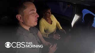 Download Elon Musk and Gayle King test drive his new Boring Company tunnel Mp3 and Videos