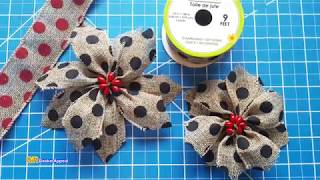 How to Make Poinsettia Bows for Christmas #dollartree