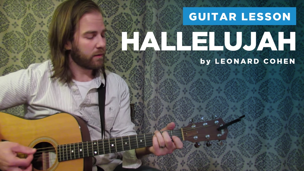 How to play hallelujah by leonard cohen rufus wainwright guitar chords lesson