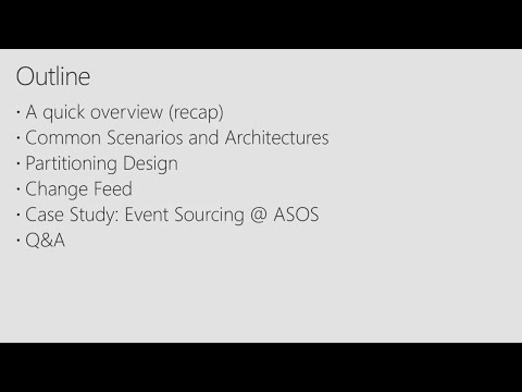 Azure Cosmos DB, design patterns and case studies for globally distributed applications - BRK4008