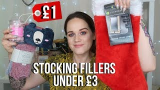 STOCKING FILLER IDEAS UNDER £3 *FOR HIM AND HER* VLOGMAS DAY 3